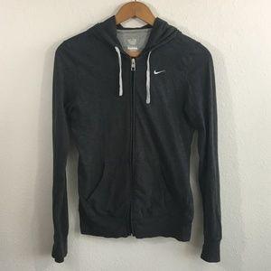 NIKE Dark Grey Full Zip Hoodie Size M